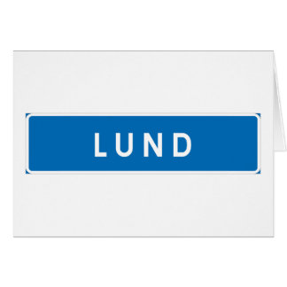 Lund, Swedish road sign Cards
