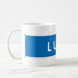 Lund, Swedish road sign Coffee Mug