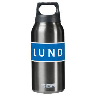 Lund, Swedish road sign Insulated Water Bottle