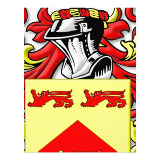 Lundie Coat of Arms Personalized Letterhead