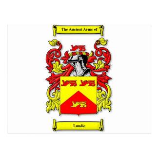 Lundie Coat of Arms Postcard