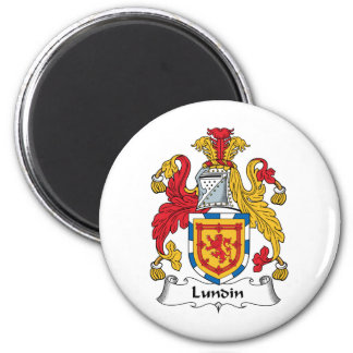 Lundin Family Crest 2 Inch Round Magnet