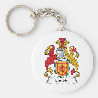 Lundin Family Crest Basic Round Button Keychain