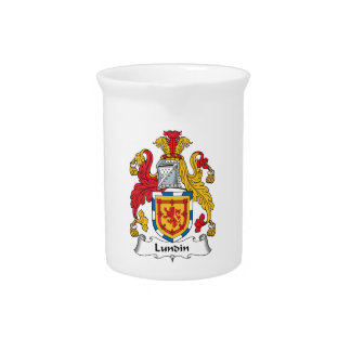 Lundin Family Crest Beverage Pitchers