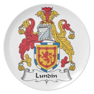Lundin Family Crest Dinner Plate