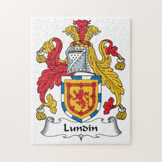 Lundin Family Crest Jigsaw Puzzles