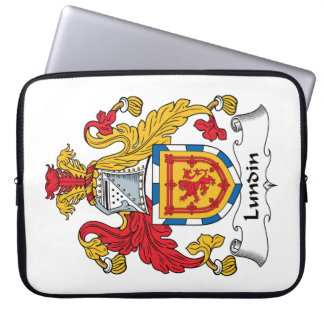 Lundin Family Crest Laptop Computer Sleeves