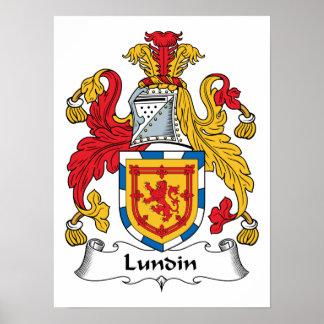 Lundin Family Crest Poster
