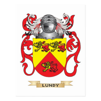 Lundy Coat of Arms (Family Crest) Postcard