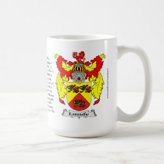Lundy, the Origin, the Meaning and the Crest Coffee Mug