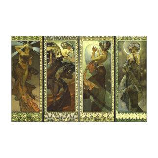 Lune et Etoiles 1902 Canvas Print