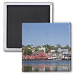 Lunenberg, Nova Scotia, Canada. 4 2 Inch Square Magnet
