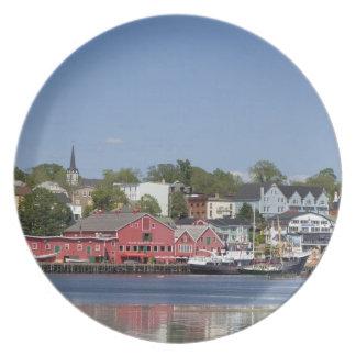 Lunenberg, Nova Scotia, Canada. 4 Dinner Plates