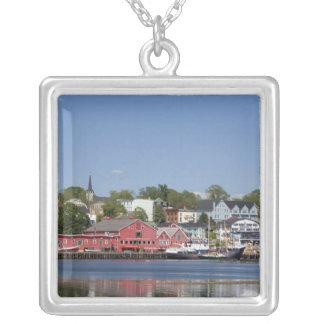 Lunenberg, Nova Scotia, Canada. 4 Square Pendant Necklace
