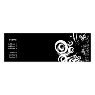Luner-Estrellas 2 del negocio de la tarjeta del pe Tarjeta Personal