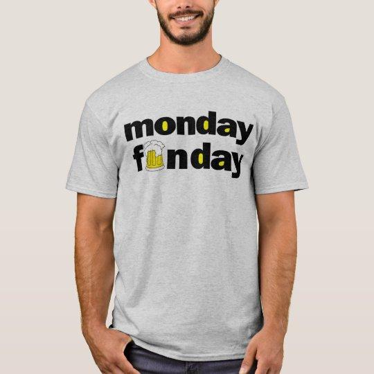 lunes es una camiseta divertida de la camiseta del