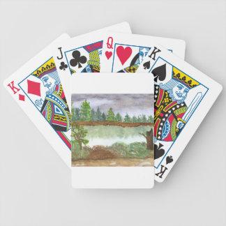 Lunes lluvioso barajas de cartas