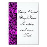 Lunes rosado invitación 8,9 x 12,7 cm