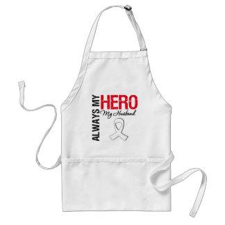 Lung & Bone Cancer - Always My Hero My Husband Adult Apron