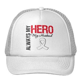 Lung & Bone Cancer - Always My Hero My Husband Trucker Hat