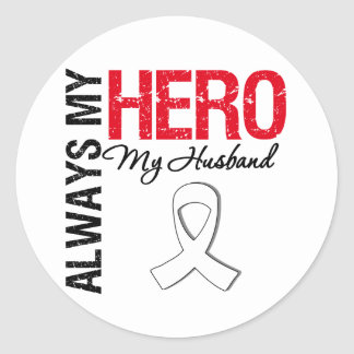 Lung & Bone Cancer - Always My Hero My Husband Sticker
