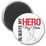 Lung & Bone Cancer - Always My Hero My Mom Refrigerator Magnet