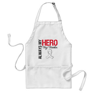 Lung & Bone Cancer - Always My Hero My Mother Adult Apron