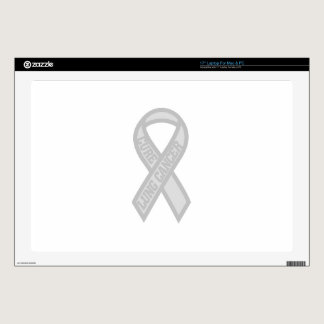 "Lung Cancer 17"" Laptop Decals"