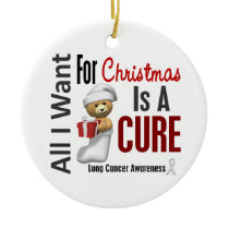 Lung Cancer All I Want For Christmas Ornaments