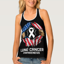 Lung Cancer All-Over Print Racerback Tank Top