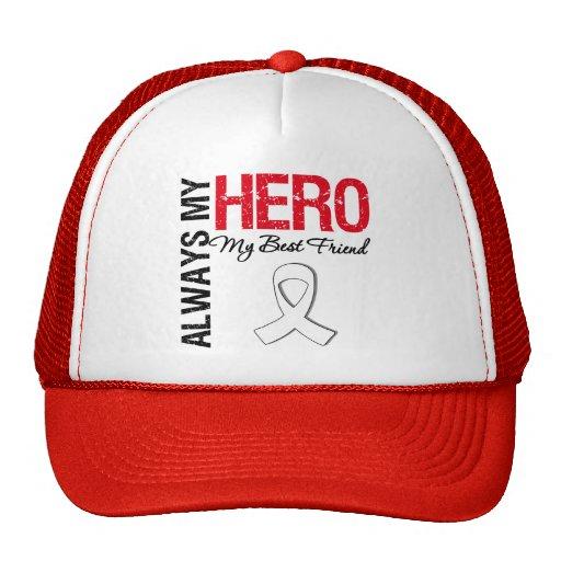 Lung Cancer - Always My Hero My Best Friend Trucker Hat