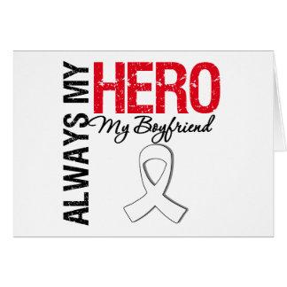 Lung Cancer - Always My Hero My Boyfriend Card