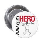 Lung Cancer - Always My Hero My Grandma 2 Inch Round Button