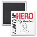Lung Cancer - Always My Hero My Grandma Fridge Magnet