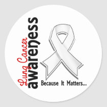 Lung Cancer Awareness 5 Classic Round Sticker
