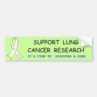 Lung Cancer Awareness Bumper Sticker Car Bumper Sticker