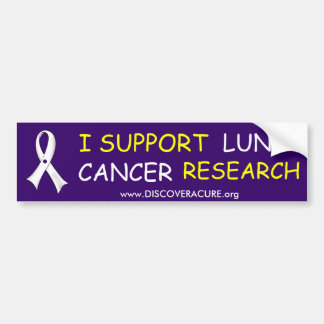 Lung Cancer Awareness Bumper Sticker-blue Bumper Sticker