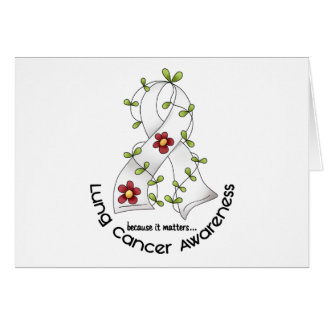 Lung Cancer Awareness FLOWER RIBBON 1 Card