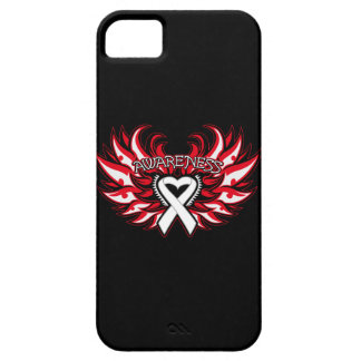 Lung Cancer Awareness Heart Wings iPhone SE/5/5s Case