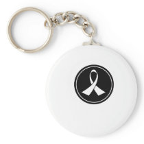 Lung Cancer Awareness Keychain