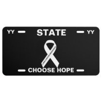 LUNG CANCER AWARENESS LICENSE PLATE