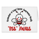 Lung Cancer Awareness Month Bee 1.2 Greeting Card