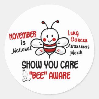 Lung Cancer Awareness Month Bee 1.2 Sticker