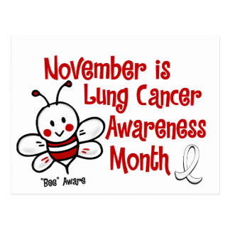 Lung Cancer Awareness Month Bee 1.3 Postcard