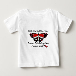 Lung Cancer Awareness Month Butterfly 1.1 Baby T-Shirt