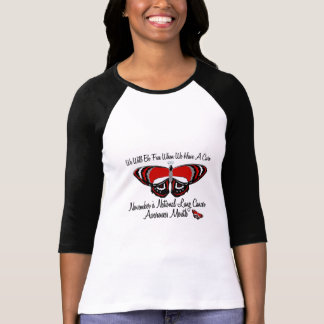 Lung Cancer Awareness Month Butterfly 1.1 T-Shirt