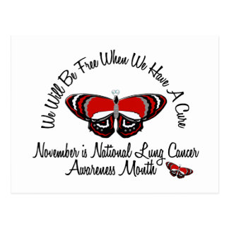 Lung Cancer Awareness Month Butterfly 1.2 Postcard