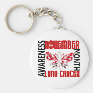 Lung Cancer Awareness Month Butterfly 3 4 Keychains