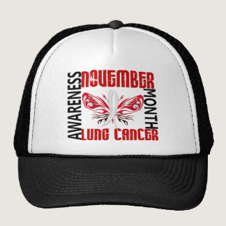 Lung Cancer Awareness Month Butterfly 3.4 Trucker Hat