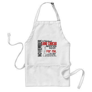Lung Cancer Awareness Month Every Month For ME Aprons